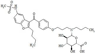N-Debutyl Dronedarone-D-Glucuronide