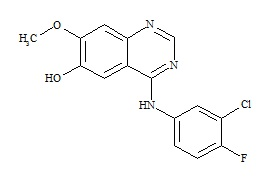 O-Desmorpholinopropyl Gefitinib