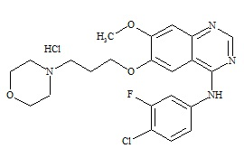 Gefitinib Impurity HCl (3-Deschloro-4-Desfluoro-4-Chloro-3-Fluoro Gefitinib HCl)