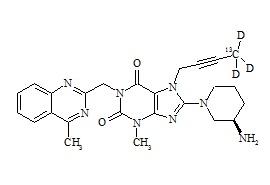 Linagliptin-13C, d3