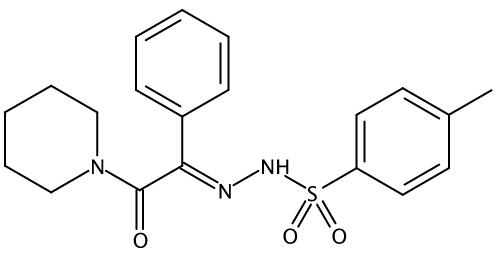 (E)-4-methyl-N'-(2-oxo-1-phenyl-2-(piperidin-1-yl)ethylidene)benzenesulfonohydrazide