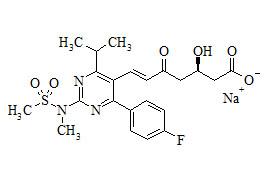 Rosuvastatin Impurity Sodium Salt (5-Oxo Rosuvastatin Sodium Salt)