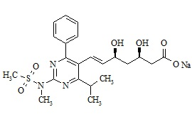 Desfluoro Rosuvastatin sodium salt