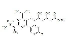 Rosuvastatin Sodium Salt (Mixture of (3R,5R), (3S,5S), (3R,5S) and (3S,5R) Isomers)