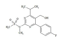 Rosuvastatin Impurity (N-[4-(4-Fluorophenyl)-5-Hydroxymethyl-6-Isopropylpyrimidin-2-yl]-N-Methylmethanesulfonamide)