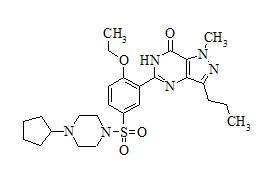 Cyclopentynafil