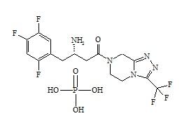 Sitagliptin Impurity E Phosphate (Sitagliptin S-Isomer Phosphate)