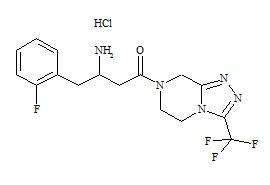 Sitagliptin Desfluoro Impurity HCl