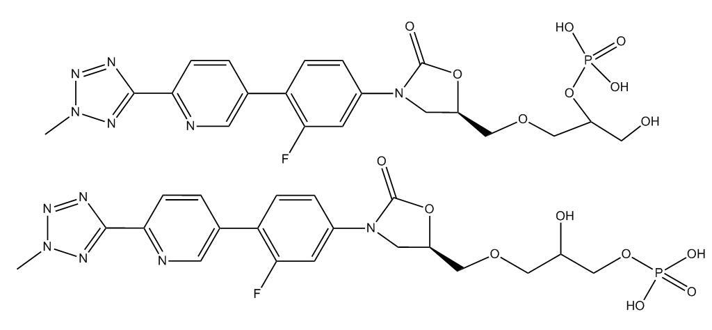 Peralkylated Phosphoric acid Tedizolid