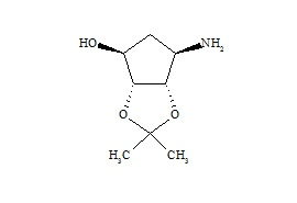 Ticagrelor Related Compound 1 ((3aR,4S,6R,6aS)-6-Aminotetrahydro-2,2-Dimethyl-4H-Cyclopenta-1,3-dioxol-4-ol)