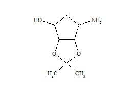 Ticagrelor Related Compound 4 (6-Aminotetrahydro-2,2-Dimethyl-4H-Cyclopenta-1.3-dioxol-4-ol)