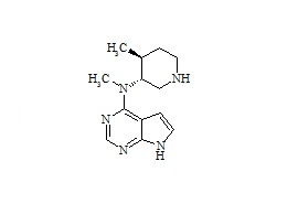 Tofacitinib Impurity (N-Des-(2-Cyanide-acetyl)-(3R,4S))