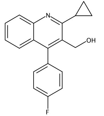 2-Cyclopropyl-4-(4-fluorophenyl)-3-quinolinemethanol