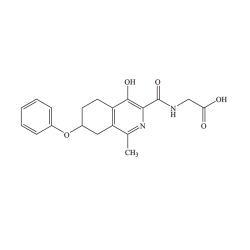 2 - (4-hydroxy-1-methyl-5-phenoxy-hexahydroisoquinoline-3-formamido) acetic acid